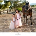 Little Girls with Horse