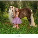 Gypsy Horse and young girl